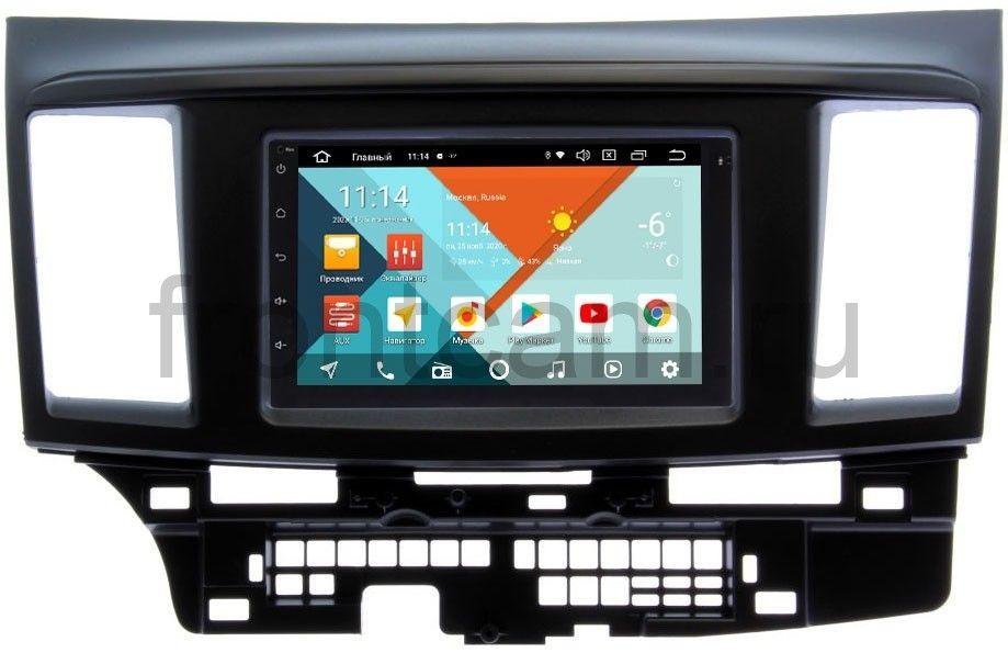 Штатная магнитола Mitsubishi Lancer X 2007-2018 Wide Media MT7001PK-2/16-RP-MMLNB-49 на Android 9.1 (DSP 3G-SIM) (+ Камера заднего вида в подарок!)