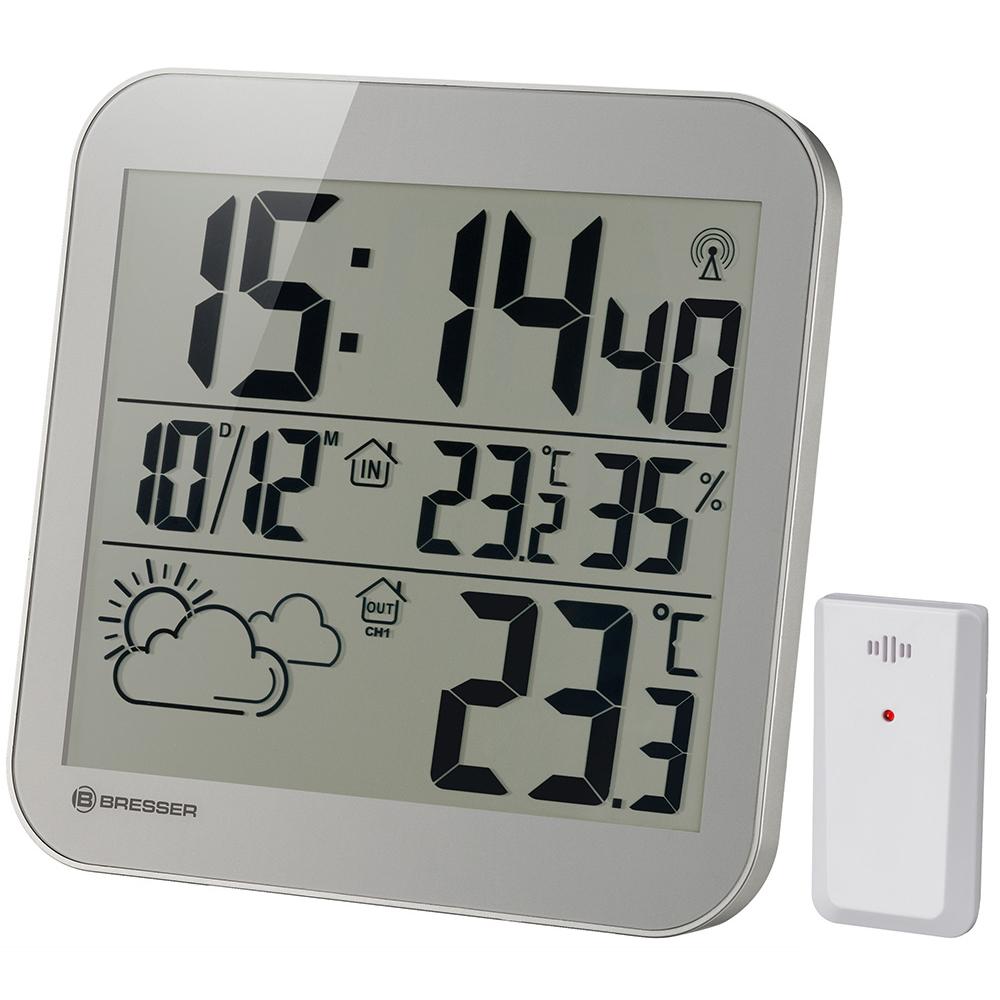 Фото - Часы настенные Bresser MyTime LCD, серебристые увлажнитель воздуха polaris puh 5806di