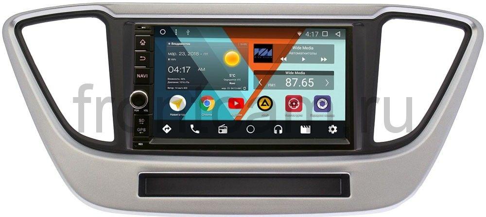 Штатная магнитола Wide Media WM-VS7A706NB-RP-HDLSLc-33 для Hyundai Solaris II 2017-2018 Android 7.1.2