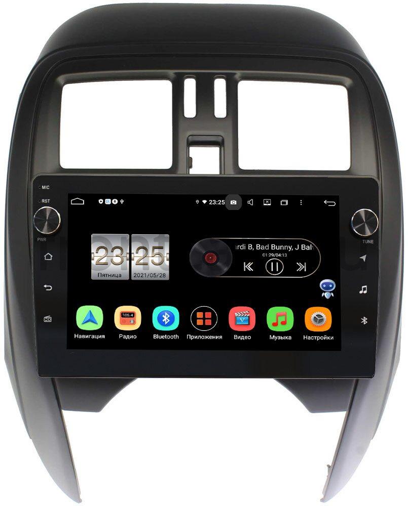 Штатная магнитола LeTrun BPX409-NI097N для Nissan March IV (K13) 2010-2019 на Android 10 (4/32, DSP, IPS, с голосовым ассистентом, с крутилками) (+ Камера заднего вида в подарок!)