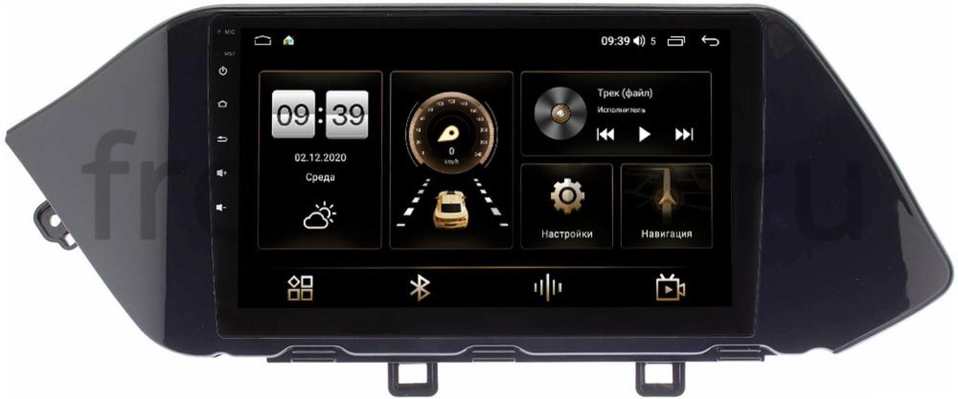 Штатная магнитола LeTrun 4166-9-317 для Hyundai Sonata VIII (DN8) 2019-2021 на Android 10 (4G-SIM, 3/32, DSP, QLed) (+ Камера заднего вида в подарок!)