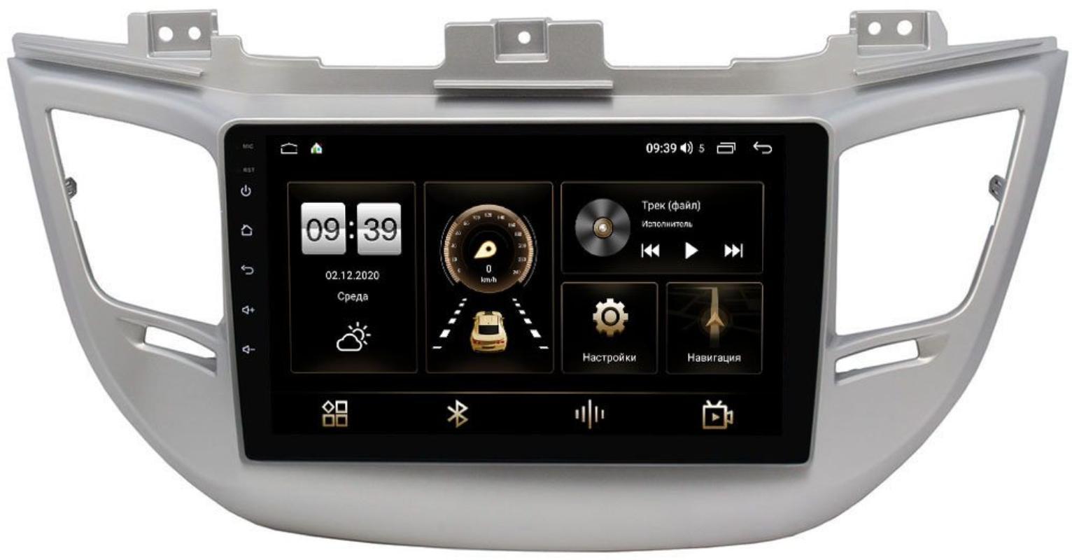Штатная магнитола LeTrun 4166-9041 для Hyundai Tucson III 2015-2018 на Android 10 (4G-SIM, 3/32, DSP, QLed) для авто без камеры (+ Камера заднего вида в подарок!)