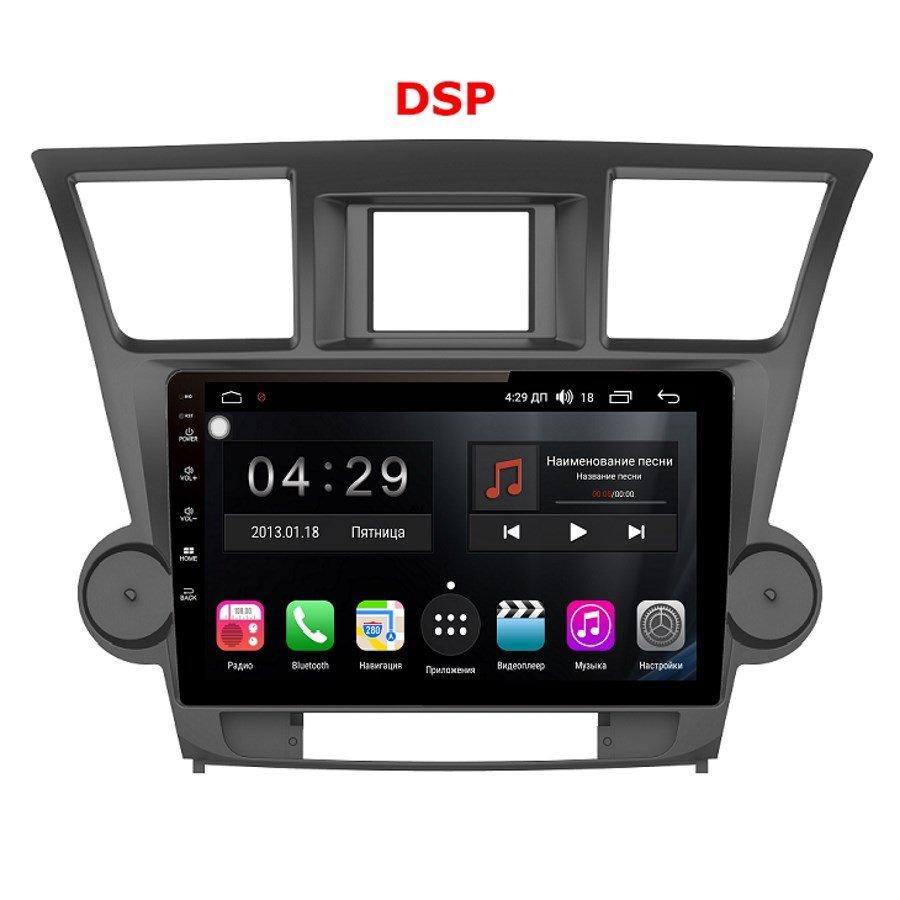 Штатная магнитола FarCar S300 для Toyota Highlander 2007-2013 на Android 8.1 (RL035Rcan) DSP (+ Камера заднего вида в подарок!) штатная магнитола farcar s300 для toyota highlander на android rl467r камера заднего вида в подарок