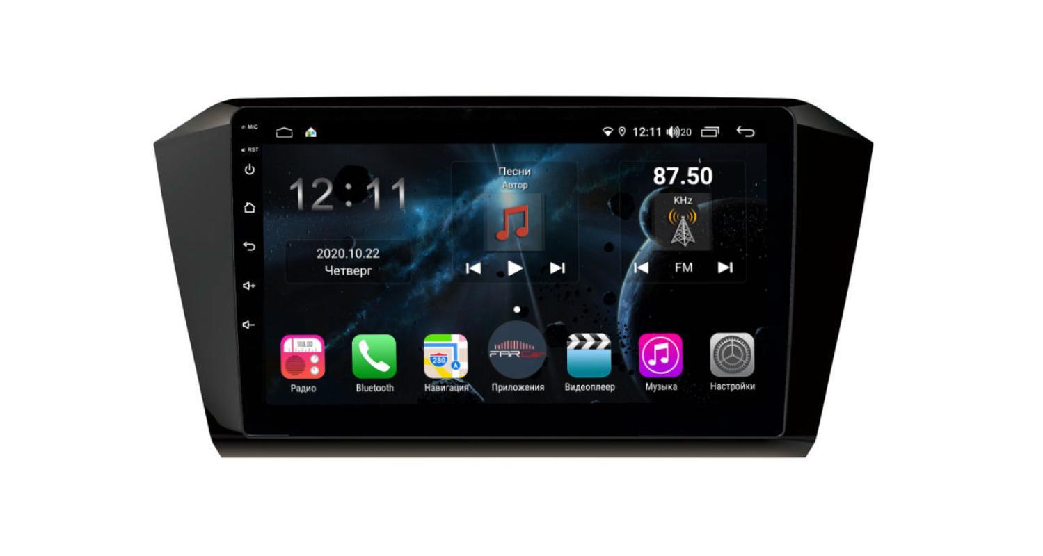 Штатная магнитола FarCar s400 для VW Passat на Android (H518R) (+ Камера заднего вида в подарок!)
