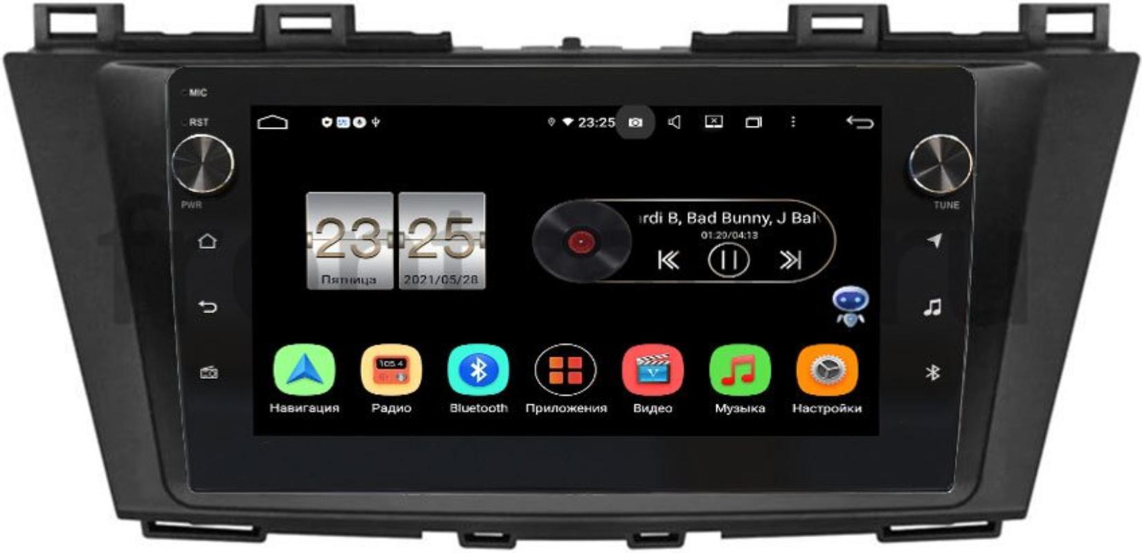 Штатная магнитола LeTrun BPX409-9223 для Mazda 5 II (CW), Premacy III (CW) 2010-2017 на Android 10 (4/32, DSP, IPS, с голосовым ассистентом, с крутилками) (+ Камера заднего вида в подарок!)