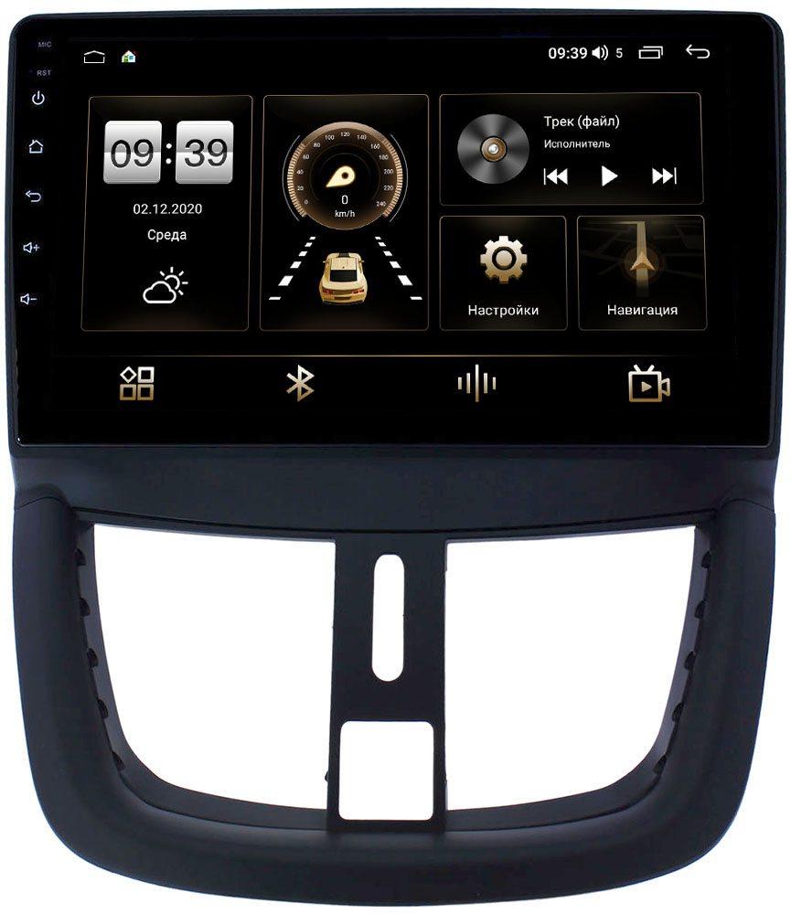 Штатная магнитола LeTrun 4196-9203 для Peugeot 207 I 2006-2015 на Android 10 (6/128, DSP, QLed) С оптическим выходом (+ Камера заднего вида в подарок!)