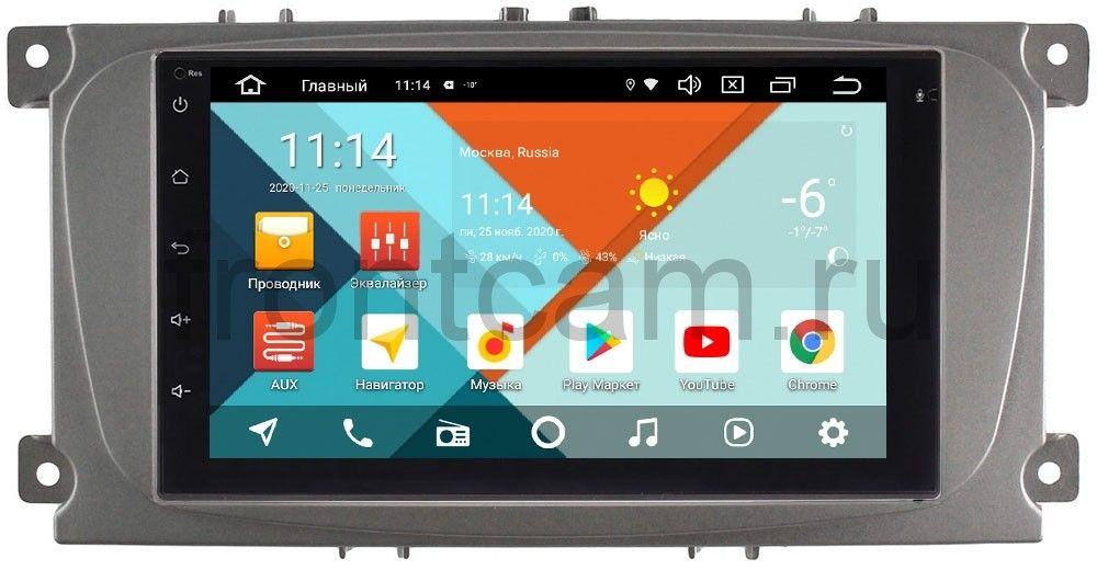 Штатная магнитола Ford Focus, C-Max, Mondeo Wide Media MT7001PK-2/16-RP-FRCMD-54 на Android 9.1 (DSP 3G-SIM) (+ Камера заднего вида в подарок!)