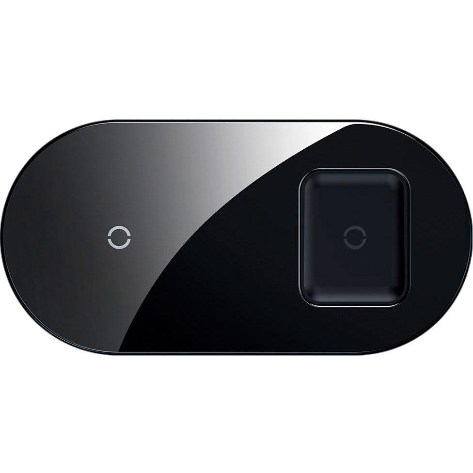 Беспроводное зарядное устройство Baseus Simple 2in1 Wireless Charger Pro Edition (Черная) устройство зарядное беспроводное intro wpb250