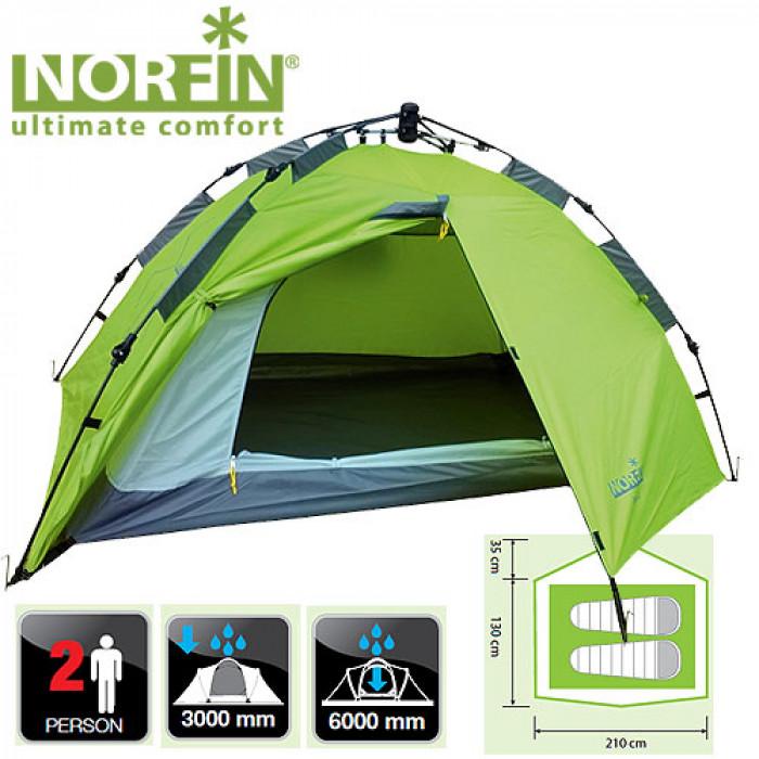 цена на Палатка автоматическая 2-х местная Norfin ZOPE 2 NF (+ Дарим комплект ввертышей для палаки.)