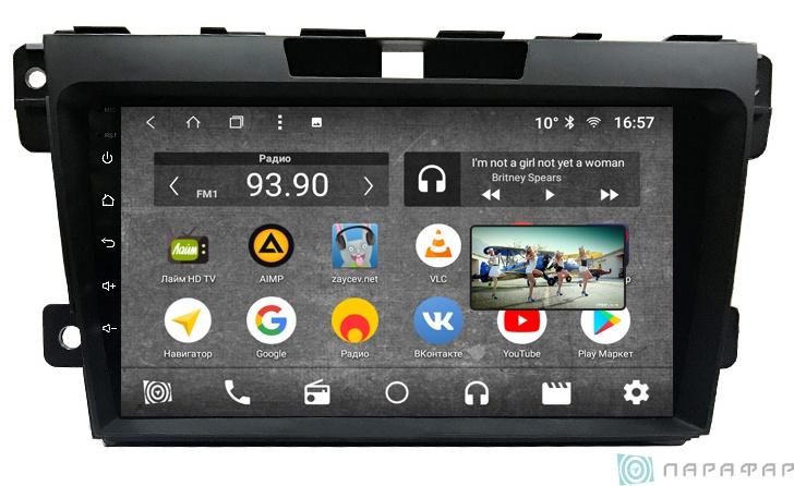 Штатная магнитола Parafar с IPS матрицей для Mazda CX-7 2008-2012 поддержка BOSE на Android 8.1.0 (PF097K) (+ Камера заднего вида в подарок!)