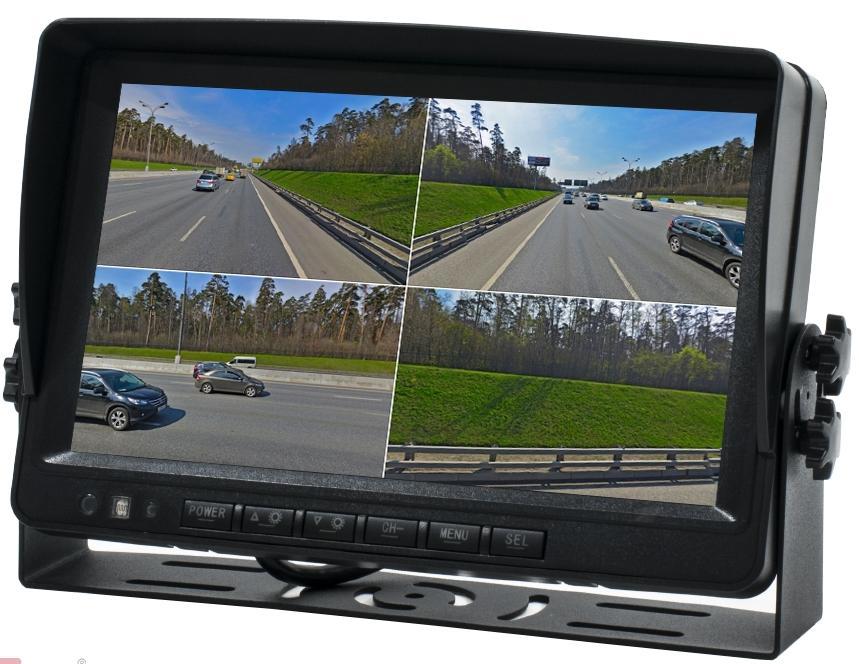 """Парковочный монитор с квадратором 9"""" для грузовиков и автобусов AVS0904BM (AHD) (+ Антисептик-спрей для рук в подарок!)"""