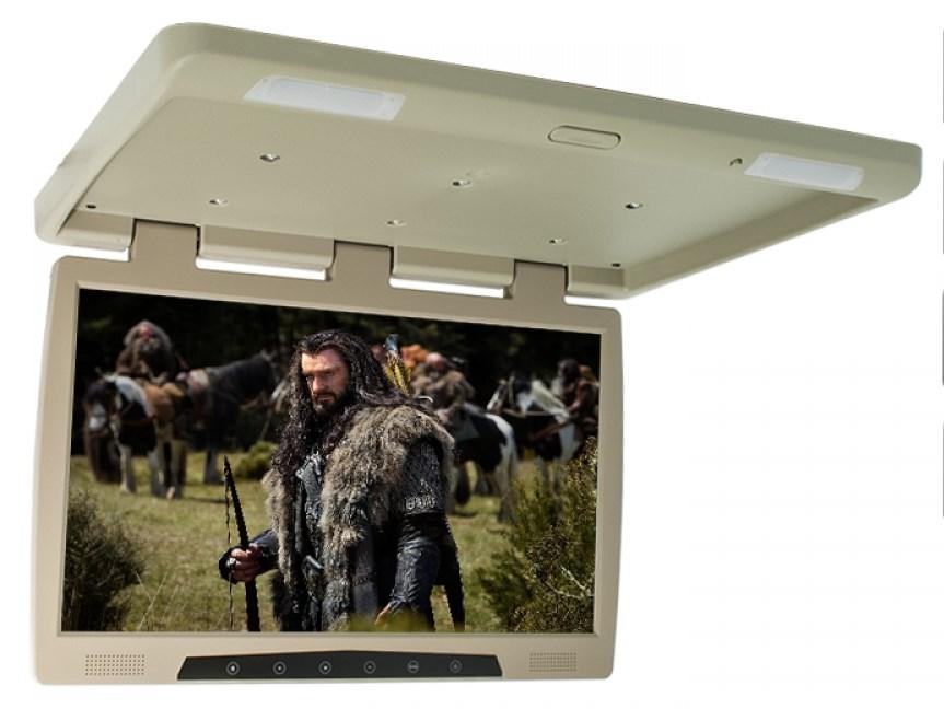 Фото - Автомобильный потолочный монитор 22 ERGO ER22H (бежевый) (+ Двухканальные наушники в подарок!) потолочный монитор для автомобиля с электроприводом 13 3 xm 1360rdud gray двухканальные наушники в подарок