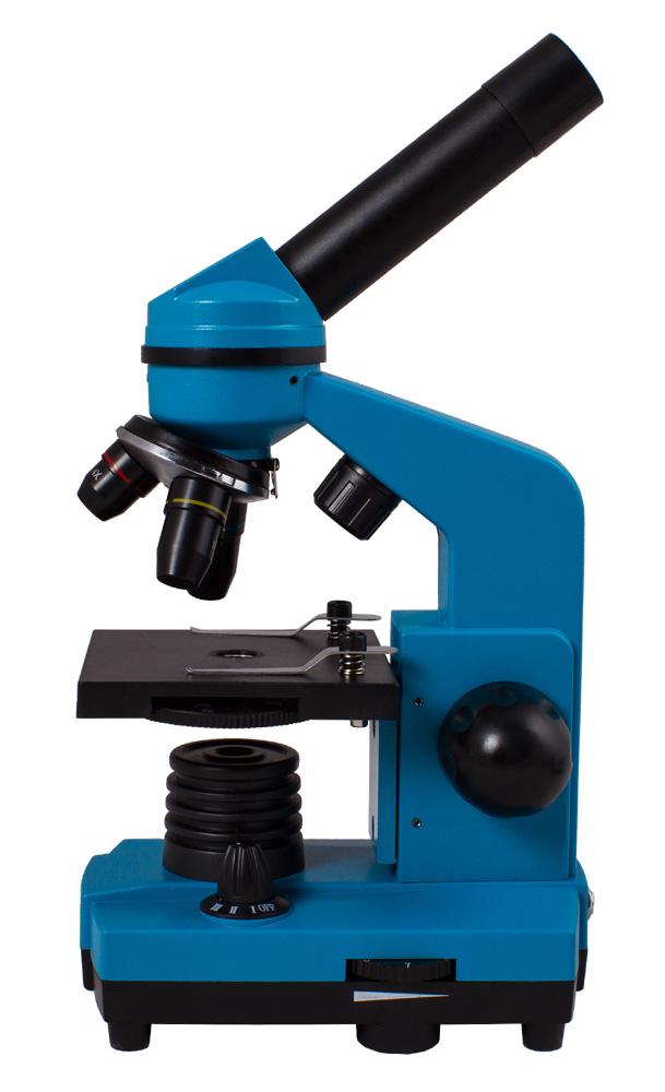 Фото - Микроскоп Levenhuk Rainbow 2L Azure\Лазурь (+ Книга «Невидимый мир» в подарок!) микроскоп цифровой levenhuk dtx tv книга невидимый мир в подарок