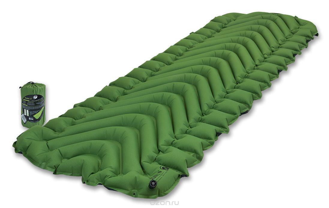 Надувной коврик Klymit Static V pad Green, зеленый (06SVGr01C)