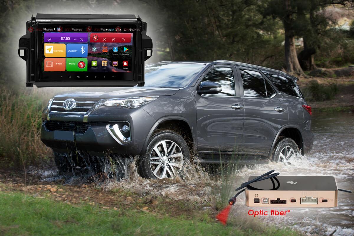 Магнитола для Toyota Fortuner RedPower K 51069 R IPS DSP ANDROID 8+ (+ Камера заднего вида в подарок!)