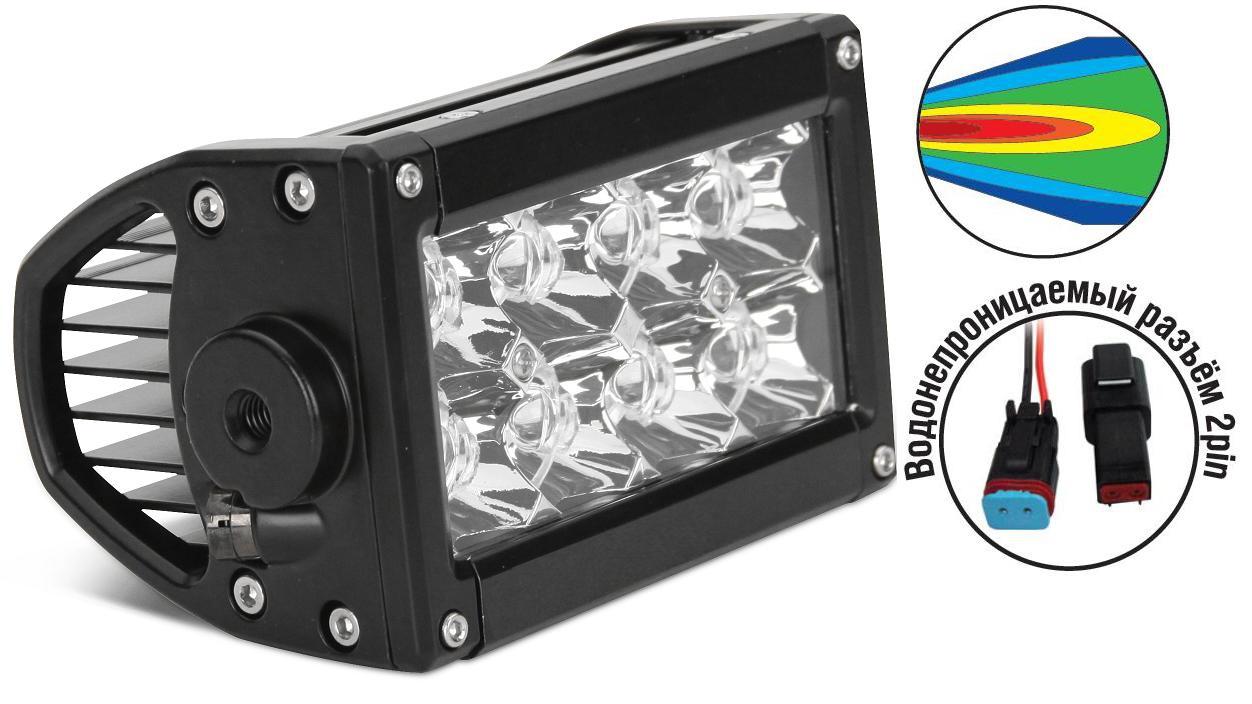 Светодиодные фары OFF-Road AVS Light SL-1610A (24Вт) + провода