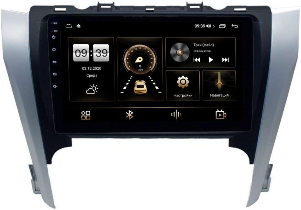 Штатная магнитола LeTrun 4196-9-3103 для Toyota Camry V50 2011-2014 на Android 10 (6/128, DSP, QLed) С оптическим выходом (+ Камера заднего вида в подарок!)