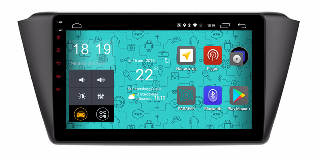 Штатная магнитола Parafar 4G/LTE с IPS матрицей для Skoda Fabia 2015+ на Android 7.1.1 (PF112) unlocked netger 4g 150mbps sierra wireless router aircard 770s 4g lte mobile wifi hotspot dongle 4g pocket wifi