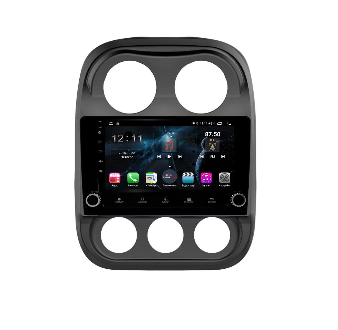 Штатная магнитола FarCar s400 для Jeep Compass на Android (H1078RB) (+ Камера заднего вида в подарок!)