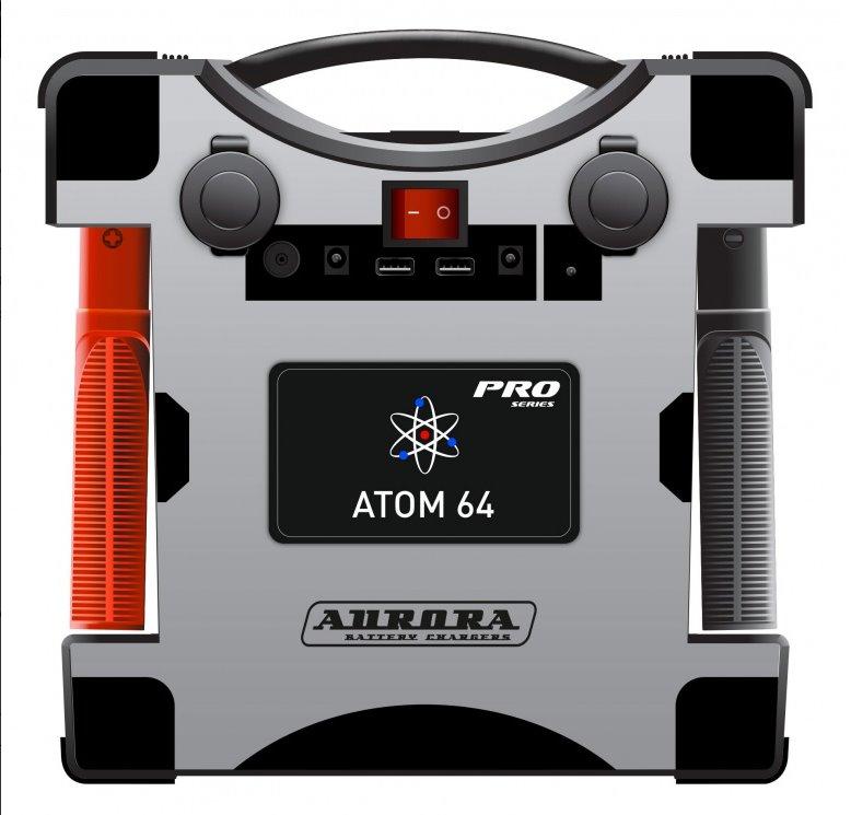 Профессиональное пусковое устройство нового поколения AURORA ATOM 64 (24В) (+ Антисептик-спрей для рук в подарок!) набор ножей actuel красный 3 шт 18х15х9 см