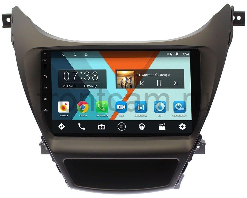Фото - Штатная магнитола Wide Media MT9024MF-2/16 для Hyundai Elantra V (MD) 2014-2016 на Android 7.1.1 для авто с камерой (+ Камера заднего вида в подарок!) авто