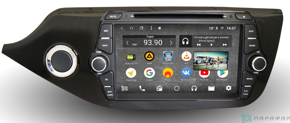Штатная магнитола Parafar с IPS матрицей с DVD для Kia Ceed 2 2012+ на Android 7.1.2 (PF216K) цена