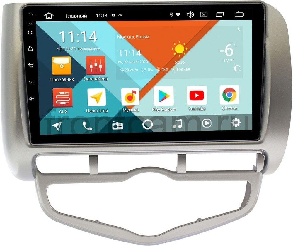 Штатная магнитола Honda Fit I, Jazz I 2001-2008 (правый руль) Wide Media KS9095QM-2/32 DSP CarPlay 4G-SIM на Android 10 (+ Камера заднего вида в подарок!)