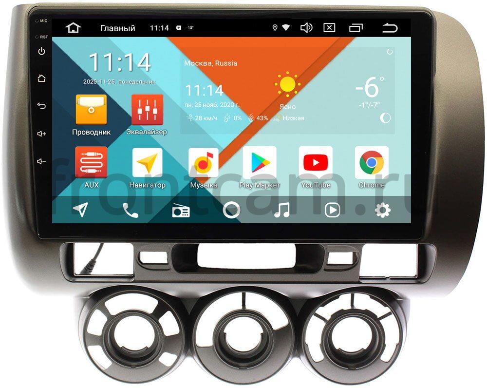 Штатная магнитола Honda Fit I 2001-2008 (с кондиционером) Wide Media KS9187QR-3/32 DSP CarPlay 4G-SIM на Android 10 (API 29) (+ Камера заднего вида в подарок!)
