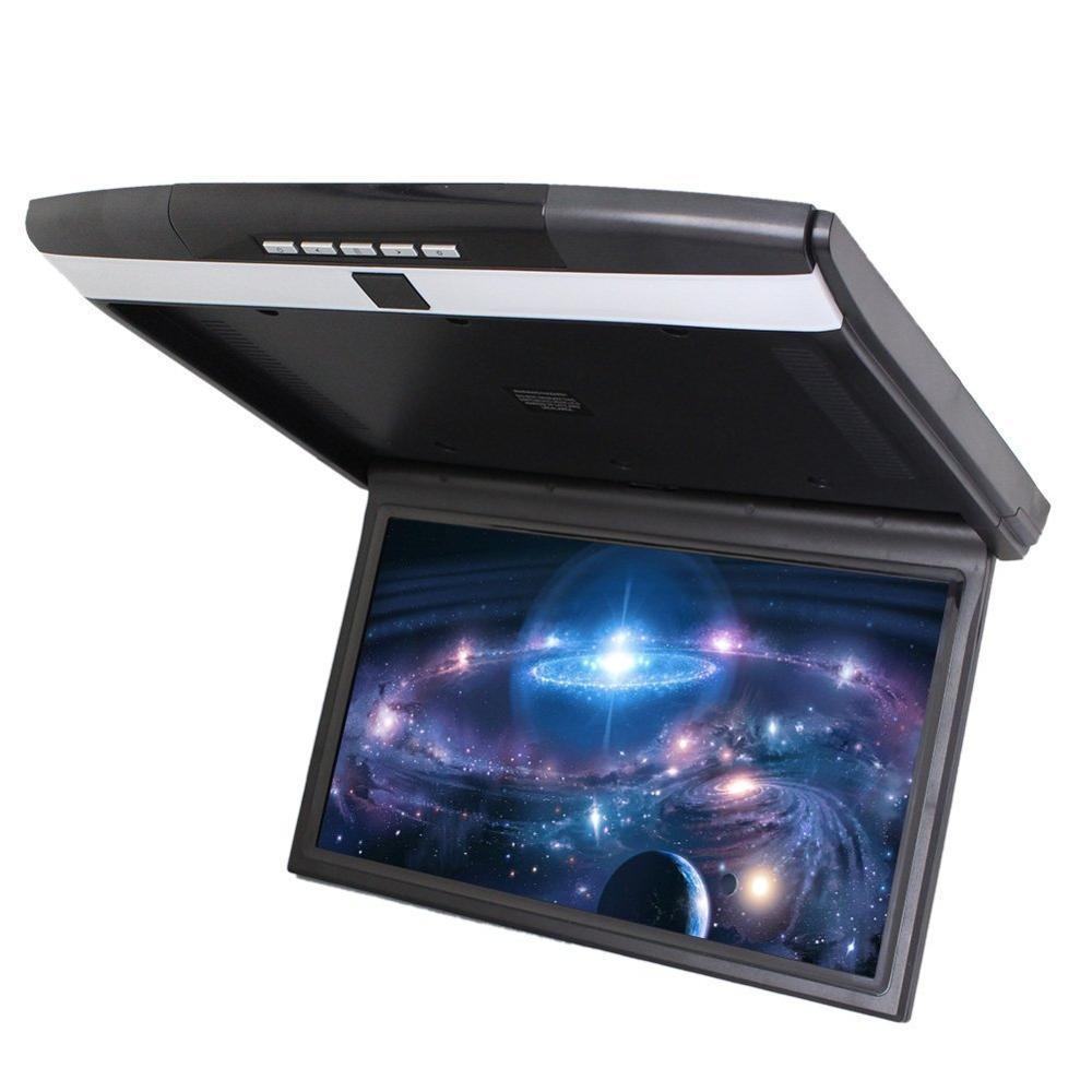 """Автомобильный потолочный монитор 15.6"""" со встроенным Full HD медиаплеером ERGO ER15S (черный) (+ беспроводные наушники в подарок!)"""