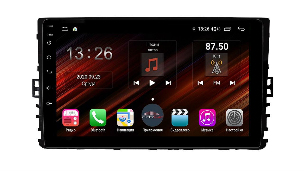 Штатная магнитола FarCar s400 Super HD для Volkswagen, Skoda на Android (XH1081R) (+ Камера заднего вида в подарок!)