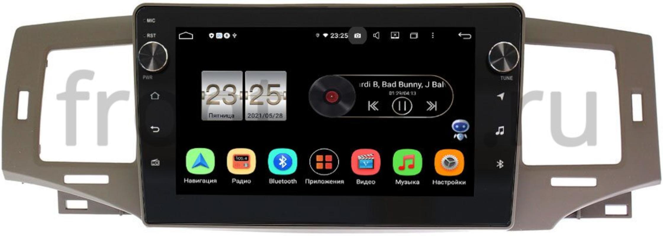 Штатная магнитола LeTrun BPX409-9238 для BYD F3 2005-2013 на Android 10 (4/32, DSP, IPS, с голосовым ассистентом, с крутилками) (+ Камера заднего вида в подарок!)
