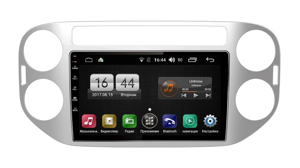 Штатная магнитола FarCar s185 для Volkswagen Tiguan 2007-2011 на Android (LY489R) (+ Камера заднего вида в подарок!)