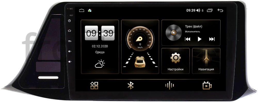 Магнитола LeTrun 4166-9276 для Toyota C-HR I 2016-2021 (правый руль) (для комплектации с магнитолой 100x200mm) на Android 10 (4G-SIM, 3/32, DSP, QLed) (+ Камера заднего вида в подарок!)