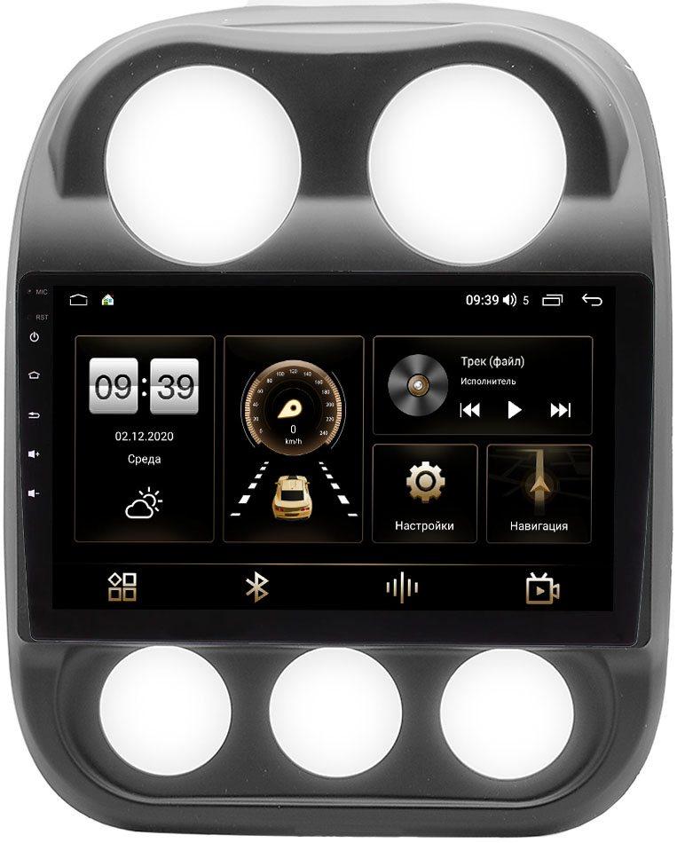 Штатная магнитола Jeep Compass I, Liberty (Patriot) 2011-2016 LeTrun 4195-10-810 на Android 10 (6/128, DSP, QLed) С оптическим выходом (+ Камера заднего вида в подарок!)
