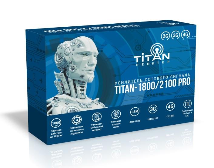 Усилитель сигнала сотовой связи (репитер) Titan-1800/2100 PRO репитер titan 2100