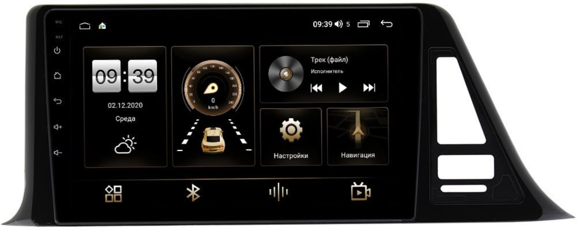 Штатная магнитола Toyota C-HR I 2016-2021 (левый руль) LeTrun 3792-9124 на Android 10 (4/64, DSP, QLed) С оптическим выходом (+ Камера заднего вида в подарок!)