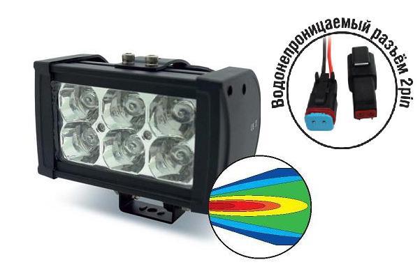Светодиодные фары OFF-Road AVS Light SL-1506 (18Вт)