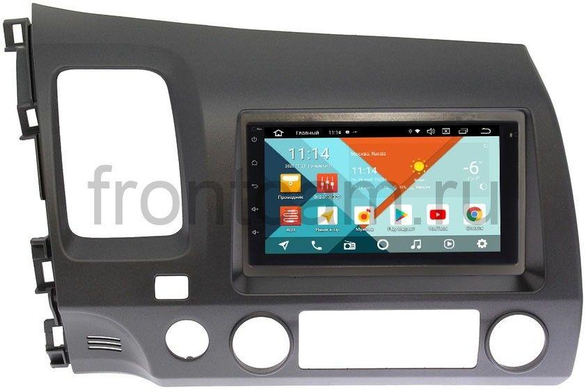 Штатная магнитола Honda Civic 8 (VIII) 4D 2005-2011 Wide Media MT7001PK-2/16-RP-HNCV52-60 на Android 9.1 (DSP 3G-SIM) (+ Камера заднего вида в подарок!)