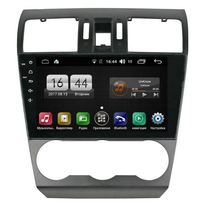 Штатная магнитола FarCar s185 для Subaru Forester, XV 2013-2015 на Android (LY901/775R) (+ Камера заднего вида в подарок!)