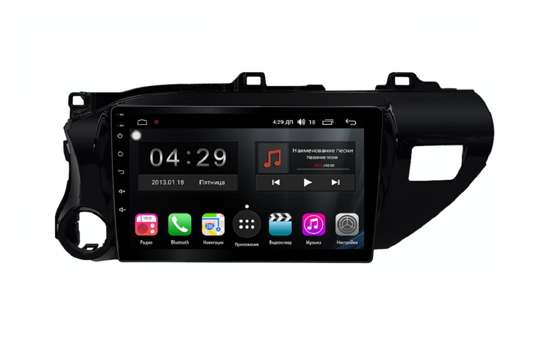Штатная магнитола FarCar s300 для Toyota Hilux на Android (RL1077R) (+ Камера заднего вида в подарок!)