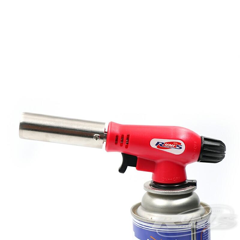 Газовая горелка RUNIS Premium P04, пьезо., с газогенер. (цанг.)/80/ (+ Антисептик-спрей для рук в подарок!)