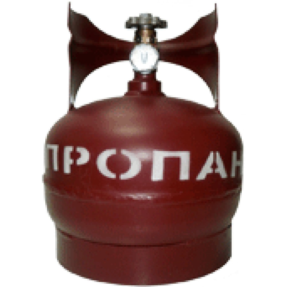 Баллон газовый стальной с вентилем баллонным Крым, 5 л (+ Антисептик-спрей для рук в подарок!)