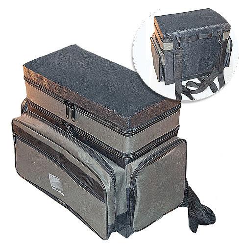 Ящик-рюкзак рыболовный зимний пенопластовый 2-х ярус. H-2LUX