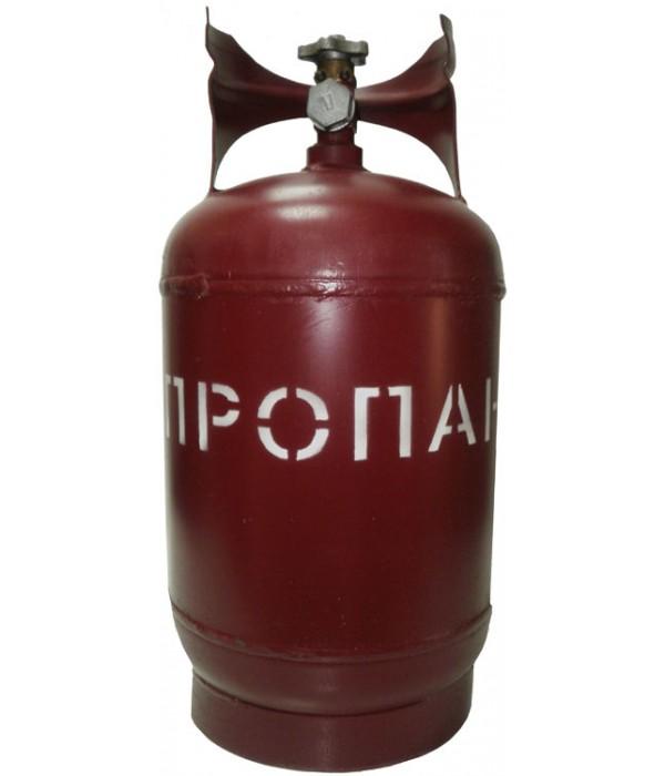 Баллон газовый стальной с вентилем баллонным Крым, 18 л (+ Антисептик-спрей для рук в подарок!)