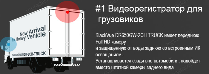 BlackVue DR650FW-2CH TRUCK Camera