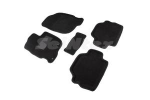 Ворсовые 3D коврики в салон Seintex для Mitsubishi Pajero Sport II 2008-2015 (черные)