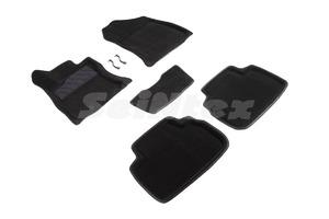 Ворсовые 3D коврики в салон Seintex для Subaru Forester V 2018-н.в. (черные)