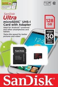 Карта памяти micro SDXC 128Gb SanDisk Ultra UHS-1