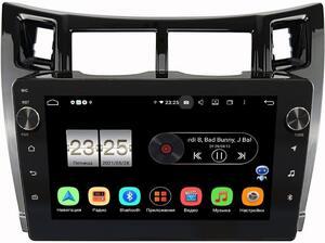 Штатная магнитола Toyota Yaris II (XP90) 2005-2010, Vitz II (XP90) 2005-2010 (черная, глянец) LeTrun BPX409-172 на Android 10 (4/32, DSP, IPS, с голосовым ассистентом, с крутилками)