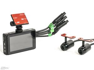Двухканальный видеорегистратор для мотоцикла / квадроцикла / снегохода (Full HD 1080P) Avel AVS1010DVR